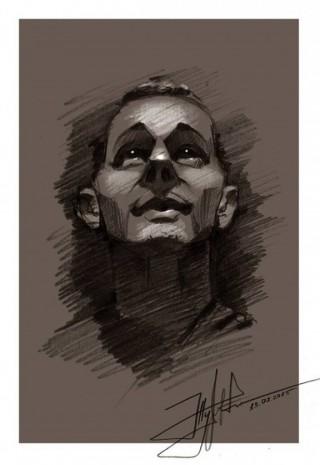 Портрет Олега Сенцова у виконанні Юрія Журавля
