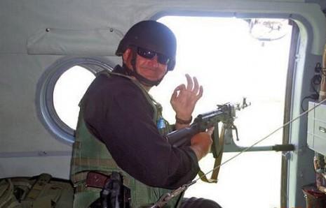Сергій Кульчицький у гвинтокрилі