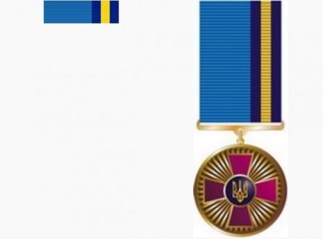 Стрічка медалі За сумлінну службу першого ступеня