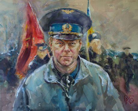 Портрет Юлія Мамчура, написаний Русланом Коломійцем у березні 2014 року