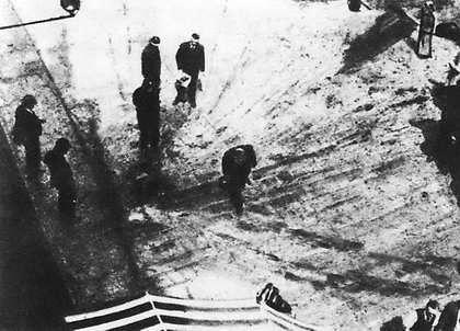 Фото з місця загибелі Євгена Коновальця