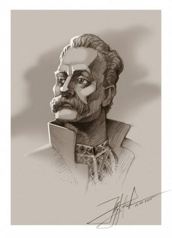 Портрет Івана Франка у виконанні Юрія Журавля