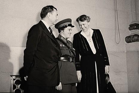 Людмила Павліченко з Франкліном та Еліонорою Рузвельт
