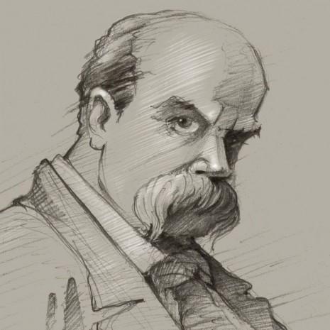 Портрет Тараса Шевченка у викоаннні Юрія Журавля