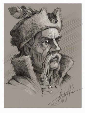 Портрет Івана Мазепи у виконанні Юрія Журавля