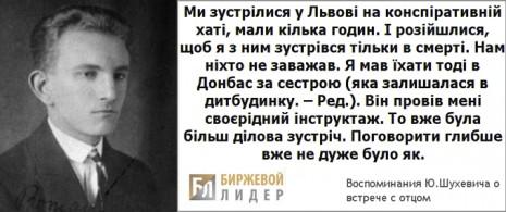 Зі спогадів Юрія Шухевича, 1948 р.
