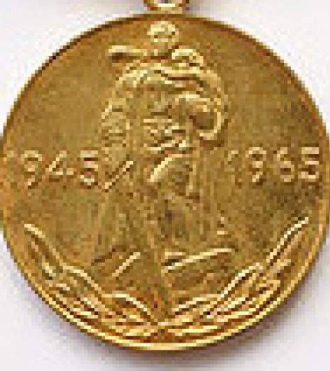 [ua]Медаль «Двадцять років перемоги у Великій Вітчизняній війні 1941—1945 рр.»[/ua][ru]Медаль «Двадцать лет Победы в Великой Отечественной войне 1941—1945 гг.»[/ru][en]Medal «Twenty Years of Victory in the Great Patriotic War of 1941-1945.»[/en]