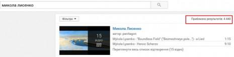 Николай Лисенко на Youtube