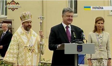 Відкриття монументу Андрію Шептицькому у Львові в 2015 році