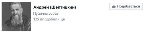 Андрей Шептицкий на Facebook