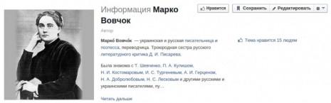 Марко Вовчок у Facebook