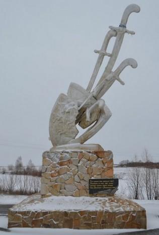 Скульптурна композиція в честь Івана Виговського в с. Шаповалівка Чернігівської області