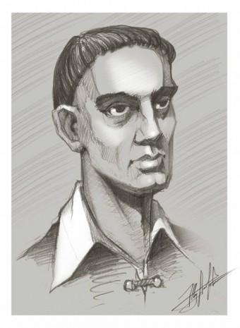 Портрет Григория Сковороды в исполнении Юрия Журавля
