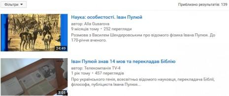 Иван Пулюй на Youtube