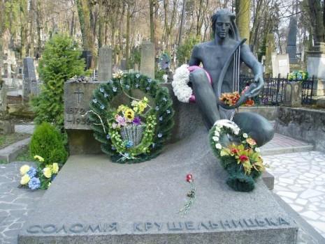 Могила Соломії Крушельницької