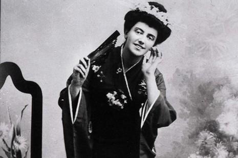 Саломея Крушельницкая в роли Чио-Чио-Сан