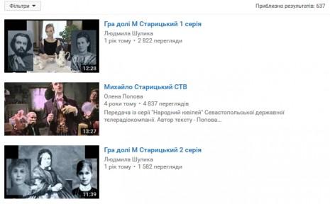 Михаил Старицкий на Youtube