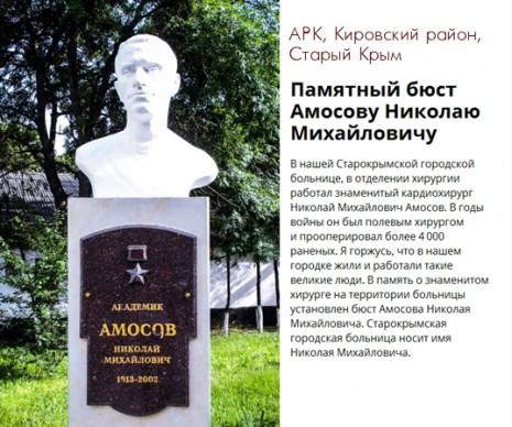 Бюст Миколі Амосову у Старому Криму