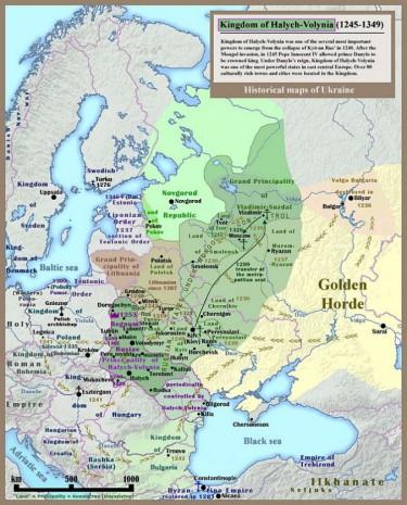Кордони Галицько-Волинського князівства