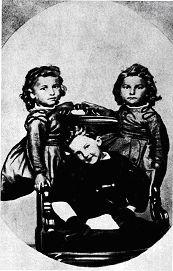 Владимир Вернадский с сестрами Ольгой и Екатериной, 1868 год