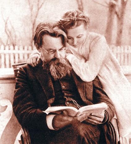 Владимир Вернадский с дочкой