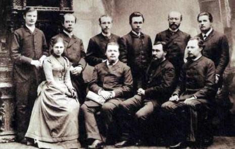 Илья Мечников с сотрудниками пастеровской лаборатории, среди которых Владимир Хавкин