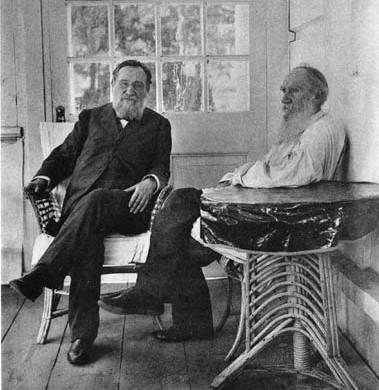 Илья Мечников и Лев Толстой