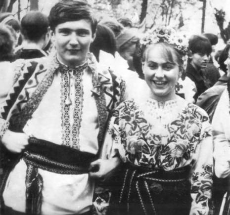 Ивасюк с одногрупницей Марией Соколовской, которй посвятил песню Червона рута