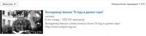 Володимир Івасюк на Youtube