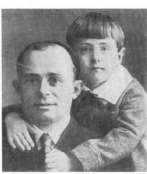 Остап Вишня с сыном Вячеславом