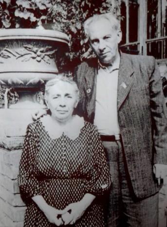 Рильський з дружиною