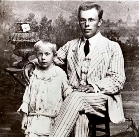 Николай Зеров с сыном