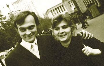 Іван Миколайчук з дружиною