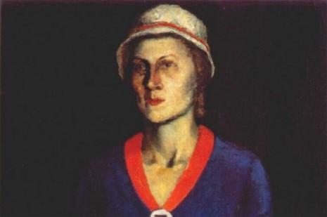 фрагмент портрета Софьи Рафалович авторства Казимира Малевича, 1934 год