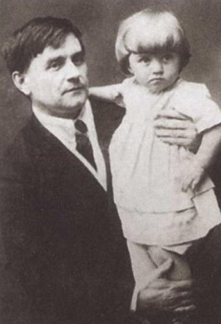 Казимир Малевич з донькою Уной, Вітебськ